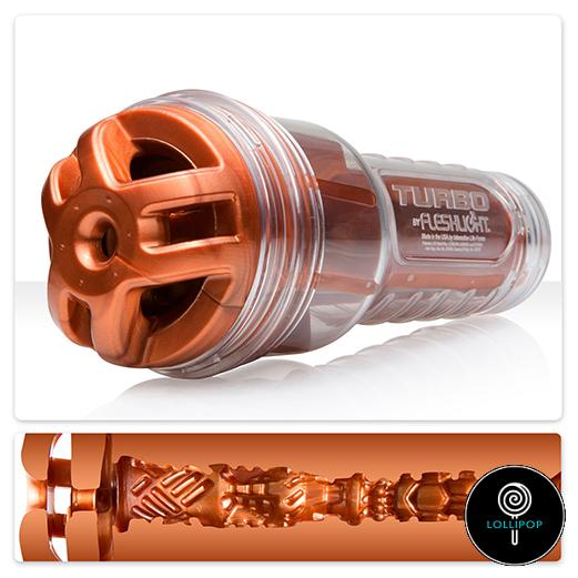 фото мужской оральный мастурбатор Fleshlight Turbo Ignition Copper
