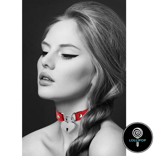 Чокер Bijoux Pour Toi - HEART LOCK Red 1