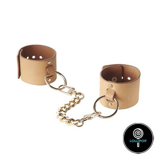 Наручники из эко-кожи Bijoux Indiscrets MAZE - Wide Cuffs Brown